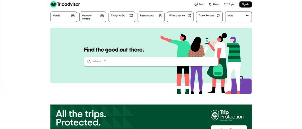 وبسایت Tripadvisor